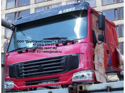 Кабина H3 красная со спальником HOWO (ХОВО)  фото 1 Владимир